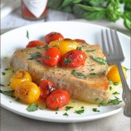 Swordfish with Charred Tomatoes and Herbs