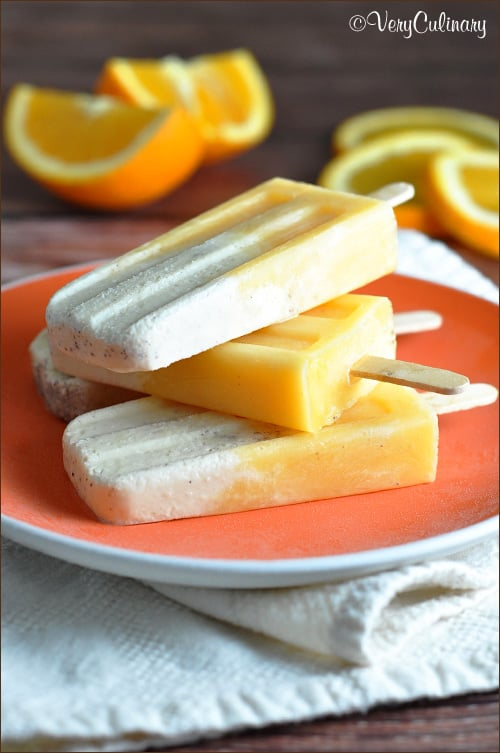 Orange Creamsicles #popsicles
