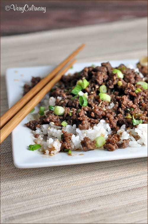 This cheater version of Korean BBQ uses ground beef instead of flank steak, making it easier and cheaper, but just as tasty. And ready in 15 minutes!