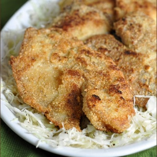 Gluten-Free Fish Fry with Simple Slaw