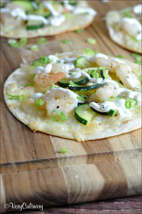 Shrimp and Zucchini Tostadas