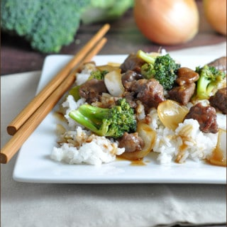 Slow Cooker Beef and Broccoli #slowNwholeCookbook