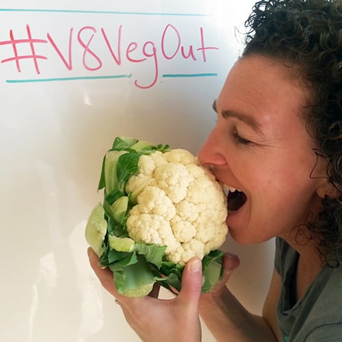 Eating Raw Vegetables #V8VegOut
