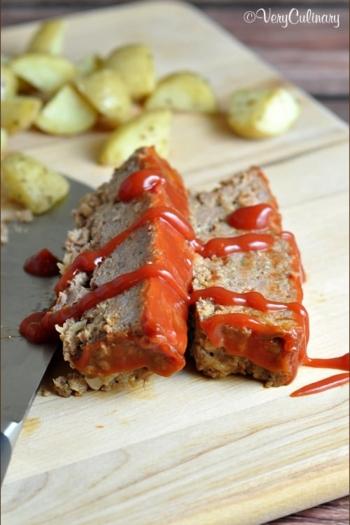 Quick and Easy Meatloaf #meatloaf #easy #recipe #V8VegOut