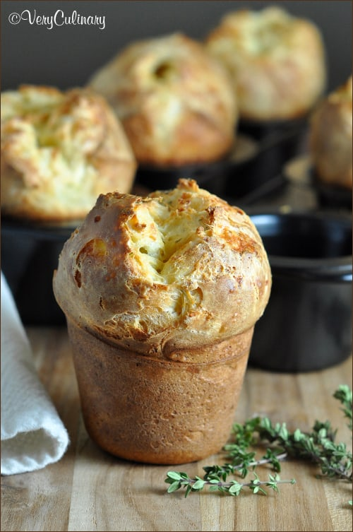 Popovers with Gruyere and Thyme #popovers #recipe