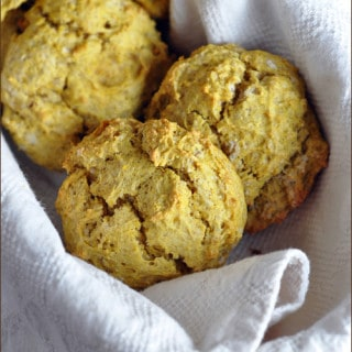Pumpkin Chai Drop Biscuits #pumpkin #biscuits