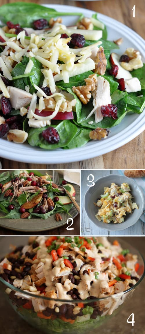4 Delciious Salad Recipes using Leftover Turkey