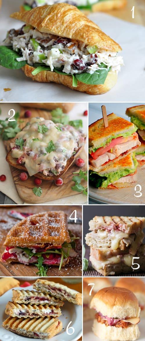 7 Delciious Sandwich Recipes using Leftover Turkey