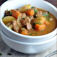 Slow Cooker Beef Stew #beefstew #slowcooker #crockpot #recipe #V8VegOut