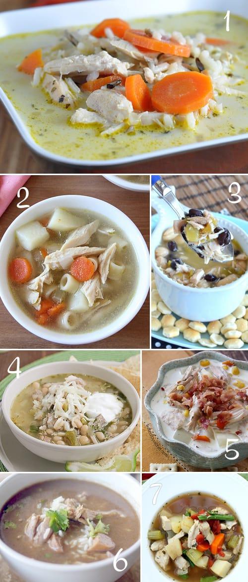 7 Delciious Soup Recipes using Leftover Turkey