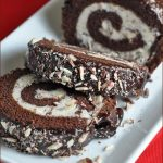 Chocolate Peppermint Roll Cake