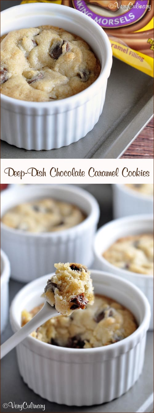 Deep-Dish Chocolate Caramel Cookies
