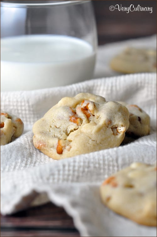 White Chocolate and Butterscotch Chip Pretzel Cookies