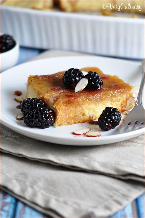 {Make-Ahead} Amaretto Brioche Bake Casserole