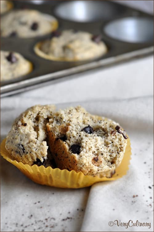 A morning muffin with chunks of chocolate and coffee flavor in every bite!