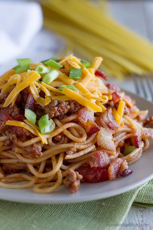 Cowboy Spaghetti from Taste and Tell