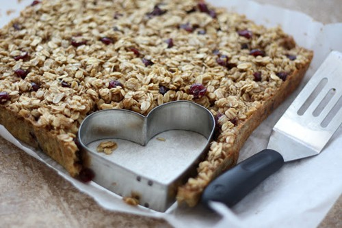 Heart Shaped Craisin Baked Oatmeal