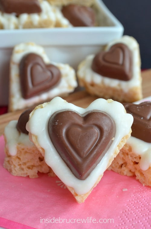 White Chocolate Reeses Krispie Hearts
