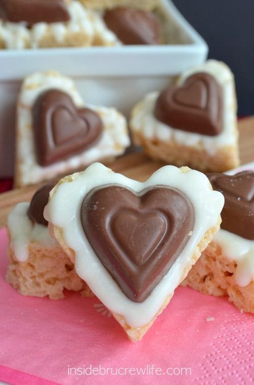 White Chocolate Reeses Krispie Hearts