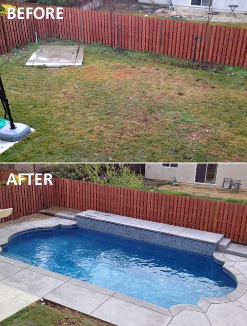 Backyard makeover for Backyard makeover with pool