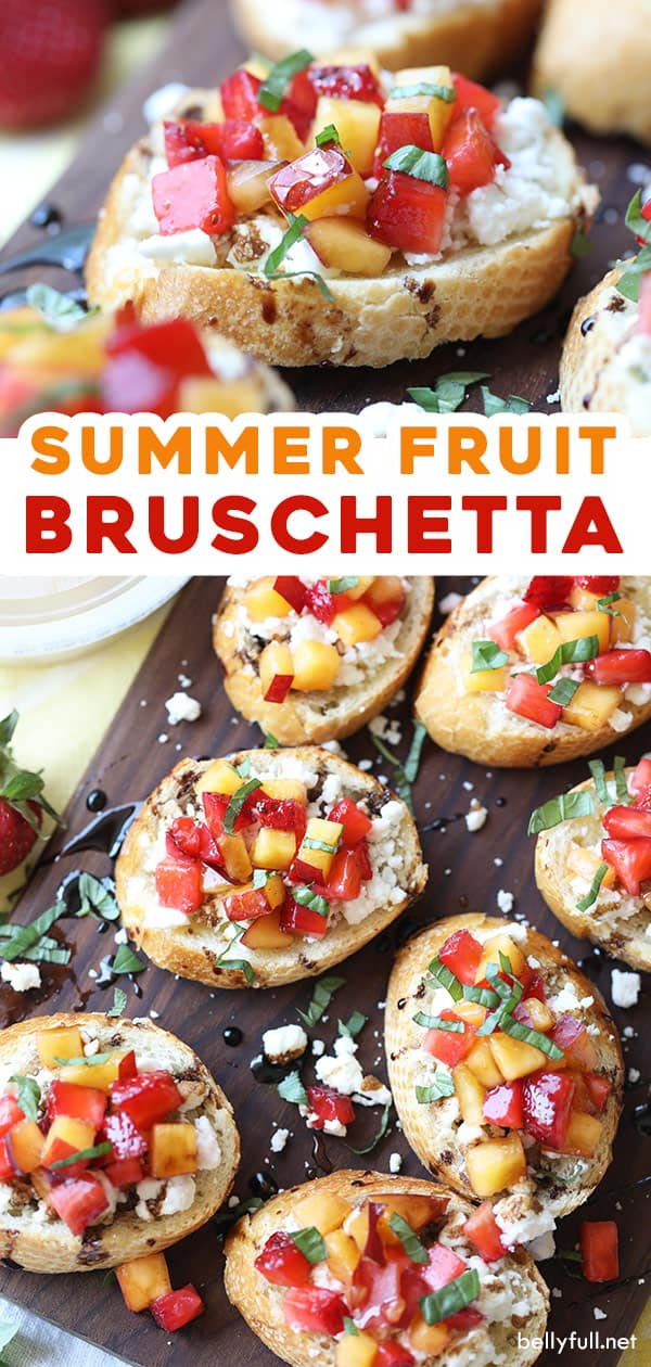pin for summer fruit bruschetta
