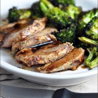 Garlic and Herb Pork Sirloin with Balsamic Glaze