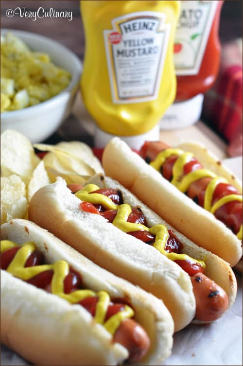 Classic hot dog with Easy Egg Salad