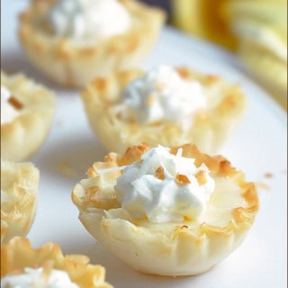 Easy Mini Lemon Tarts with Toasted Coconut