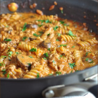 One Pot Turkey Stroganoff
