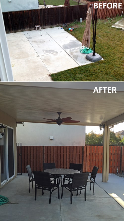 Patio - Before and After
