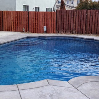 Rectangular Pool with Grecian Style