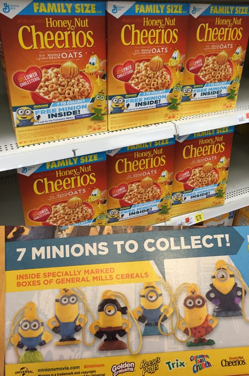 Collect all 7 Minion Toys in specially marked boxes of General Mills cereal