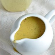 Add oil, vinegar, and seasonings to an almost empty mustard container and make a vinaigrette! It tastes great, and uses up the remaining bit of mustard that usually gets thrown out.