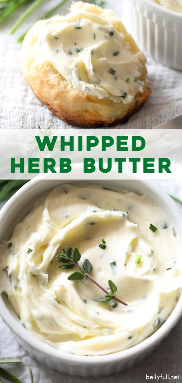 Pin for whipped herb butter