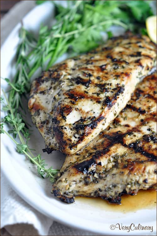 Cook grilled chicken breast