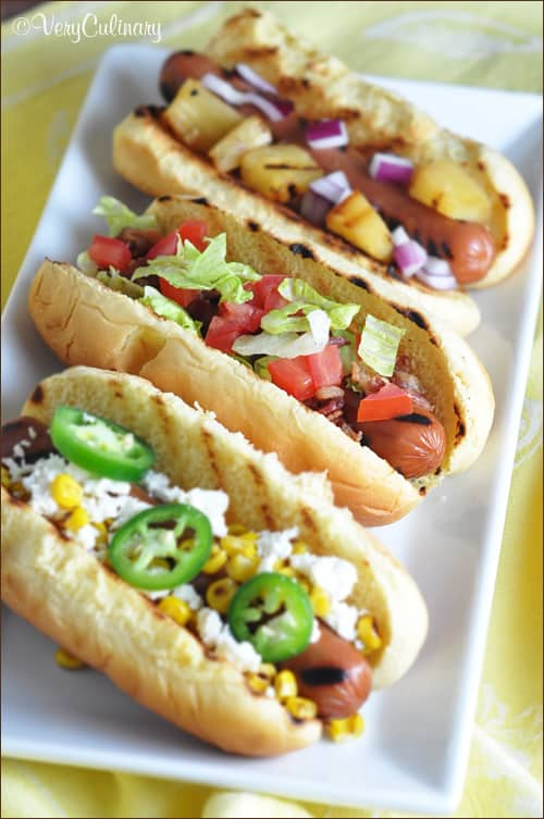 create a fun and varied hot dog bar with ball park park s