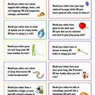 "Keep lunchtime at school fun with these ""Would You Rather"" lunchbox notes! Full size printable available."