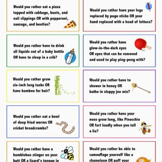 """Keep lunchtime at school fun with these """"Would You Rather"""" lunchbox notes! Full size printable available."""