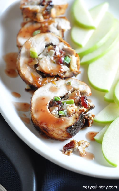 These Chicken Rolls incorporate the best Fall flavors. Easy, but elegant looking, and so delicious!
