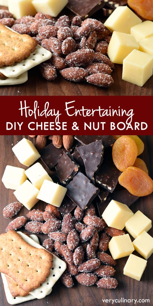 Put together a simple, beautiful cheese and nut board in just 15 minutes! #ad