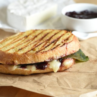 Poblano, Brie, and Cherry Grilled Cheese