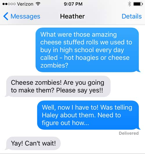 Cheese Zombie-text