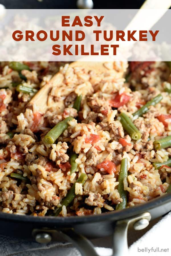 pin for ground turkey skillet