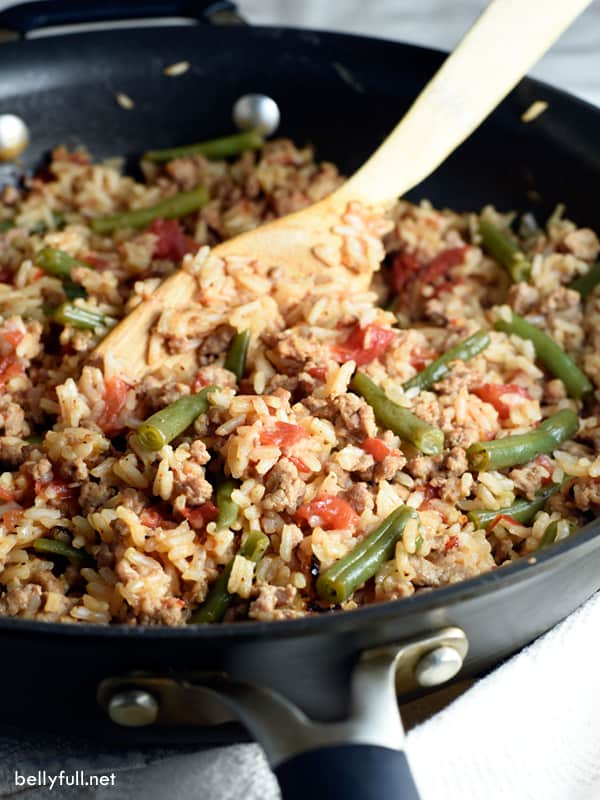 ground turkey skillet