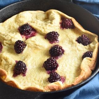 Dutch Baby Pancake with Blackberries