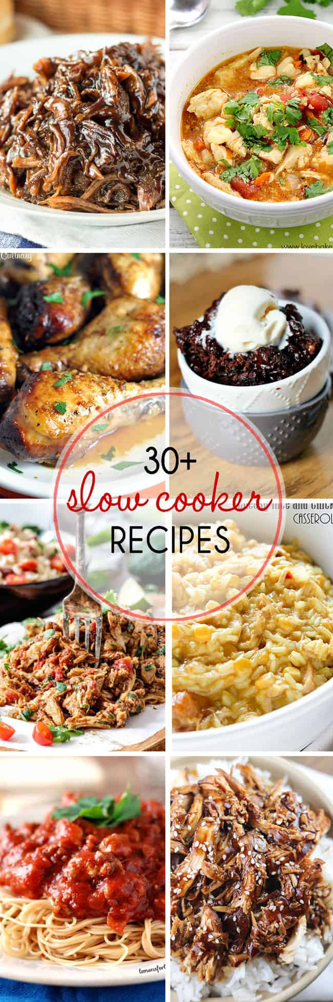 Over 30 Slow Cooker Recipes to make weekday meals easy!