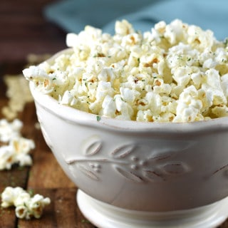 Two favorite comfort foods come together in this Garlic Bread Popcorn!
