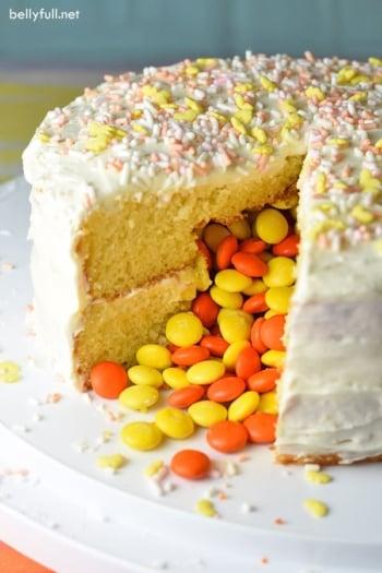 pinata cake split open
