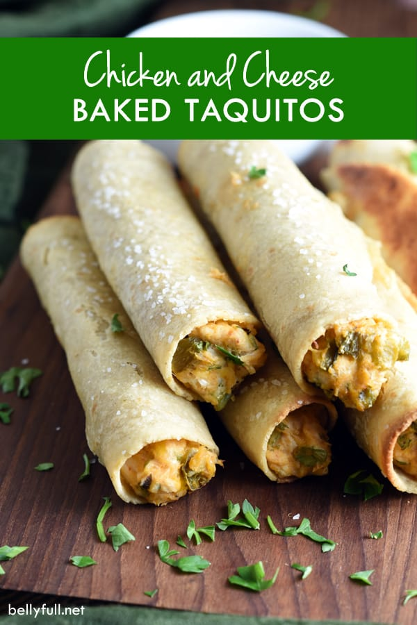 These chicken and cheese baked taquitos have the delicious flavor and ...