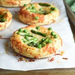 These asparagus and pea puff pastry tarts are fresh, light, and delicious. They're incredibly easy, but look so fancy!